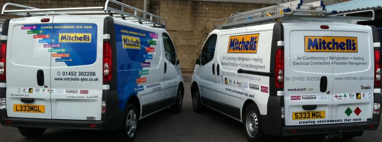 mitchells new look van livery